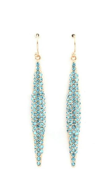 Crystal Icicle Dangles in Ice Blue