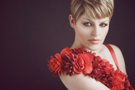 red flowers photo shoot