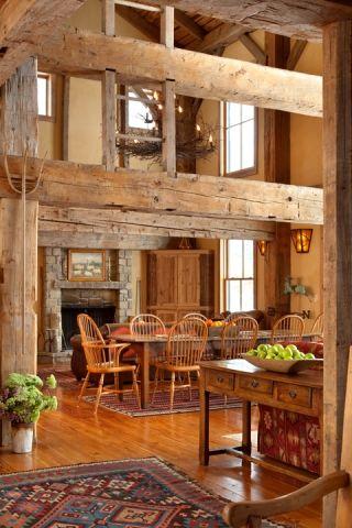 Reclaimed barn home.  Love! Yes please!!!