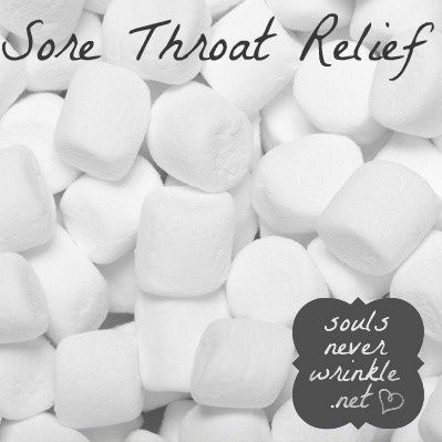 Sore Throat Relief: The marshmallow was first made to help relieve a sore throat! Just eat a few of them when your throat is hurting and let them do their magic....I wonder if this works.