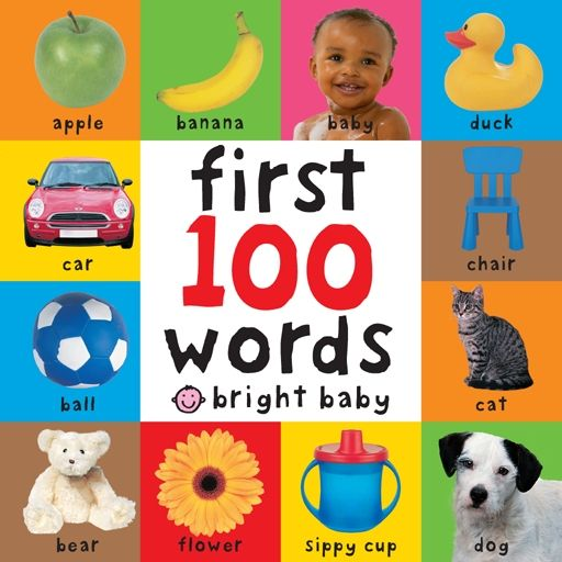 First 100 Words by  Roger Priddy: Bright colorful photos with simple words to learn and read. #Books #Babies