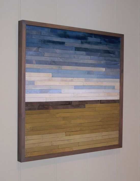 painted wood abstract landscape