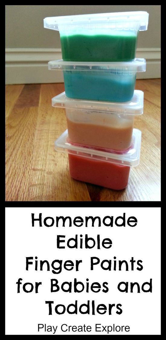 Homemade Edible Finger Paints for Babies. Can't wait to try this