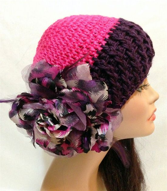 Crochet Flower hat Autumn and Spring Fashion Hat by Africancrab, $18.00
