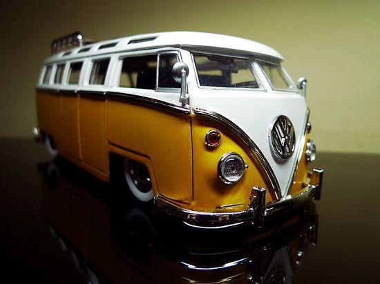 1962 Volkswagen Bus - yellow car