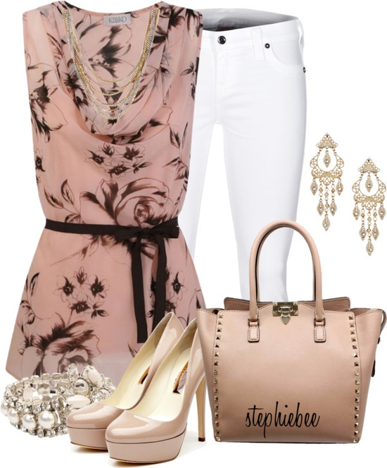 """Pink"" by stephiebees ❤ liked on Polyvore"