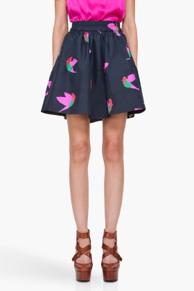 MARC BY MARC JACOBS Taffeta Night Bird Skirt