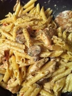 Spicy Shrimp and Chicken Pasta