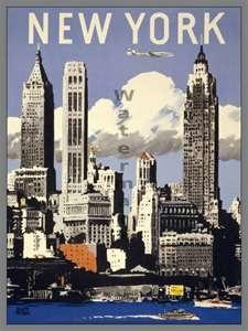 New York Vintage poster - #vintage #travel #poster #USA
