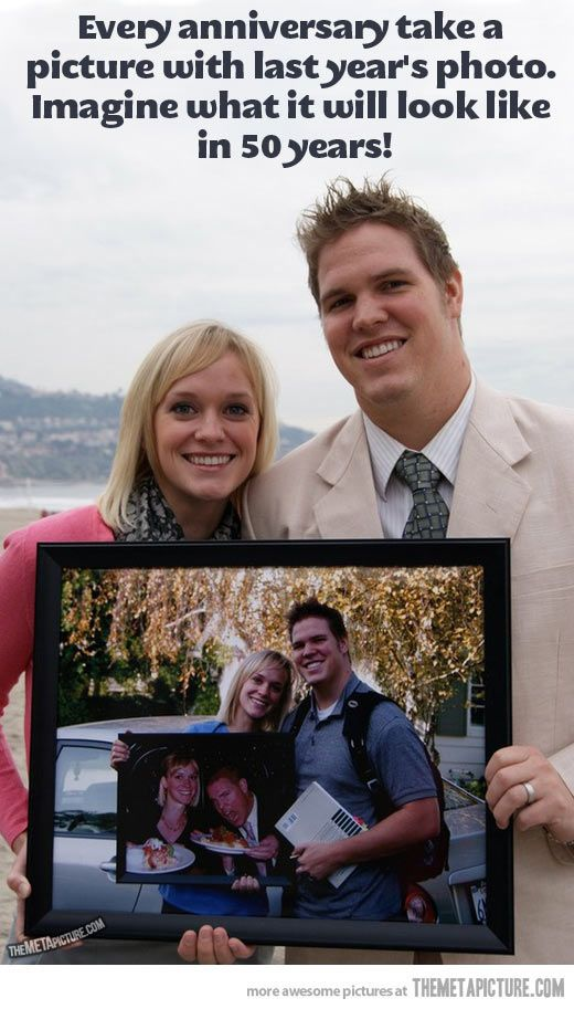 Cutest anniversary idea // Okay, maybe I should have started 14 years ago, but whatever.
