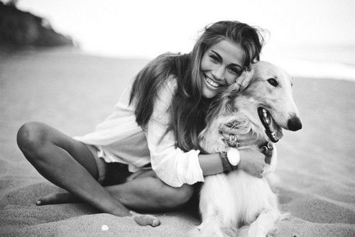 a girl & her dog