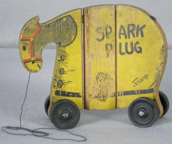 SPARK PLUG PULL TOY