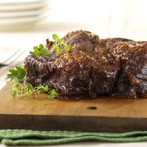 Mushroom Pot Roast-   crock pot recipe  uses red wine **hmm  sounds yummy