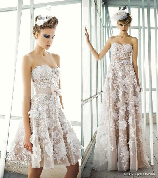 Gorgeous lace wedding or reception dress. Short to long.