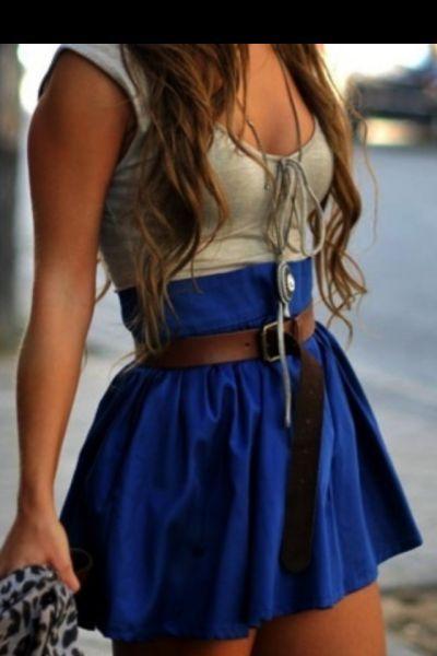 High waisted skirt.
