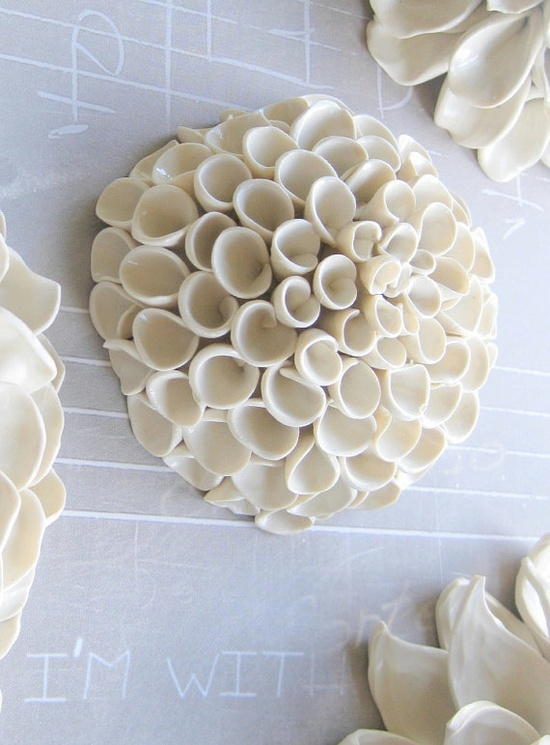This beautiful sculpture hangs on your wall. I love 3D wall art!