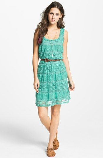As U Wish Tiered Lace Dress (Juniors) (Online Only) available at #Nordstrom ~ fun summer dress!