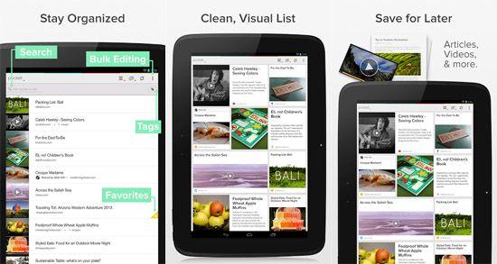Pocket App Android UI Design