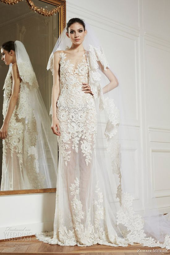 Zuhair Murad wedding dresses 2013 alexandra lace sheath ball gown