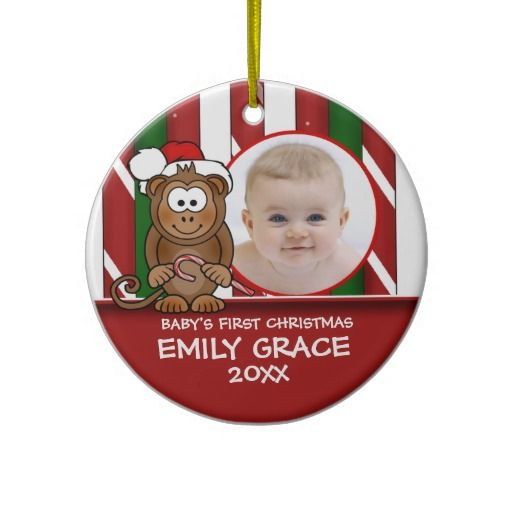 Baby's First Christmas Baby Monkey Ornament