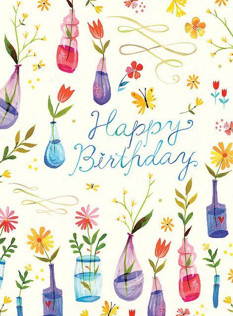 Katie Daisy birthday card:  I wish I could think like this.