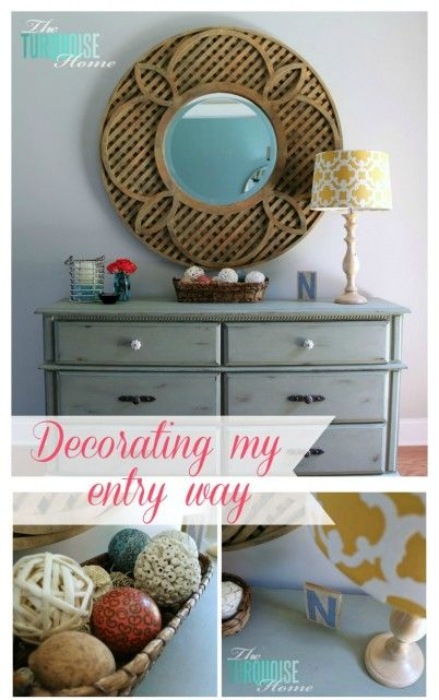 Great ideas for decorating an entry way!