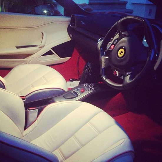 immaculate interior of the beautiful Ferrari 458!