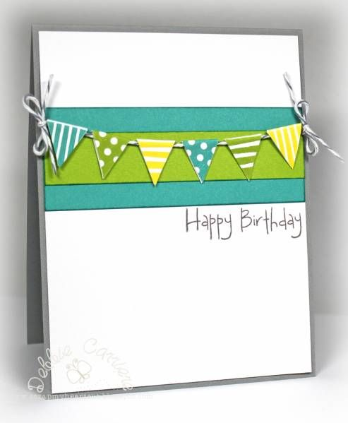 handmade birthday card with banner