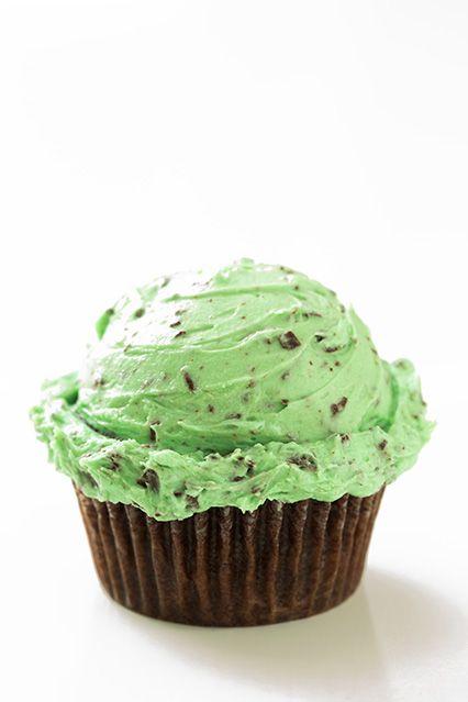 Mint chocolate chip cupcakes!