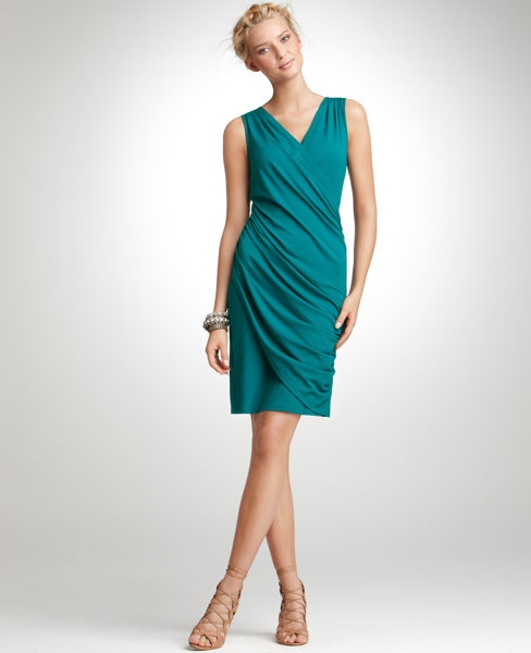 Ann Taylor Draped Dress