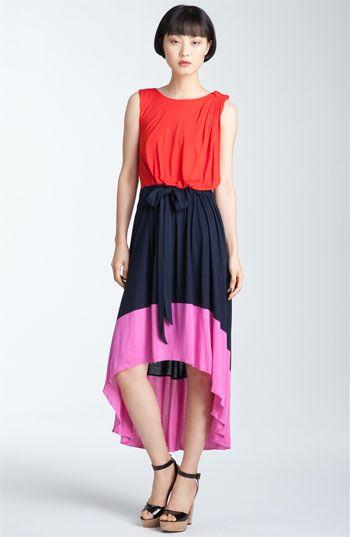 MARC BY MARC JACOBS 'Phoebe' Asymmetrical Hem Colorblock Dress