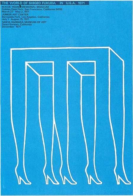 Shigeo Fukuda repinned by Awake — designedbyawake.com #japan #graphic #design #poster #simplicity #illustration