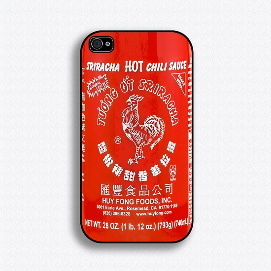 Sriracha Hot Sauce iPhone 4 Case iPhone 4s Case by iCaseSeraSera, via Etsy.