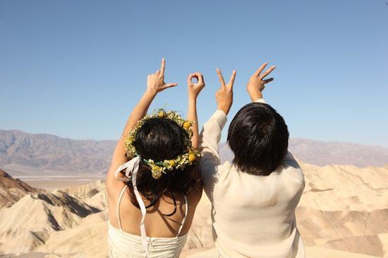 Unique Bohemian Death Valley Campervan Wedding - Bridal Musings Wedding Blog