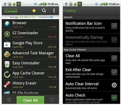 Awesome round-up of apps that clear your phone cache and give you some storage and memory back!