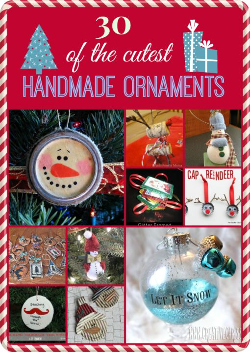 30 Of The Cutest #Handmade #Ornaments Ever! #christmas #holiday #crafts #diy