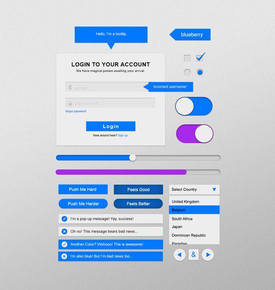 Blueberry - Free UI Kit