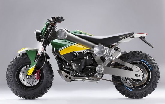 Here's the new Brutus 750 motorcycle from Caterham—yes, the sportscar company and F1 team. And the omens are good for this concept making it into production.