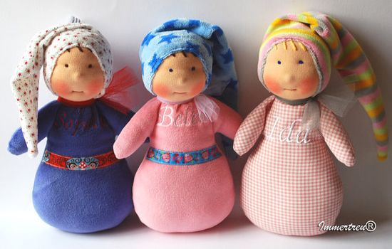 Handmade doll in Waldorf tradition
