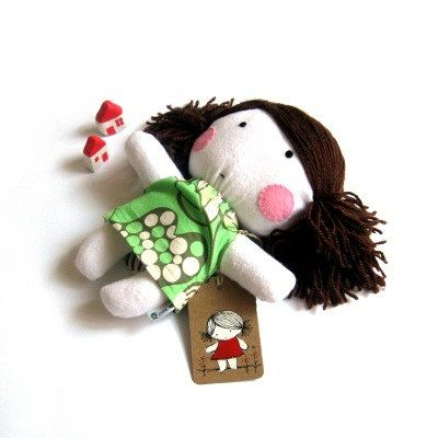 Rag doll toy handmade plushie softie girl kid by meilingerzita, $42.00