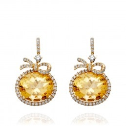 Citrine Bow Earrings