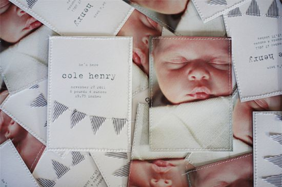 amazing birth announcements.  @Andrea Hanki these are incredible!