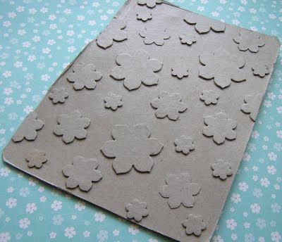 punch shapes to make homemade embossing folders