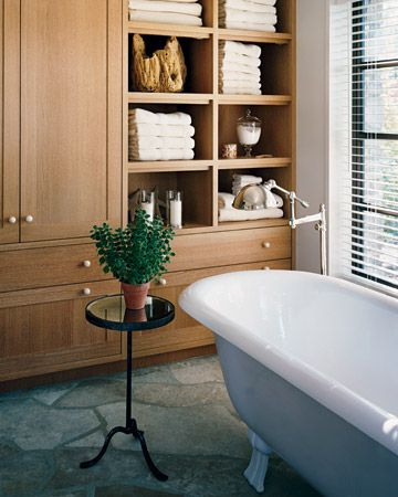 Built ins in the bathroom