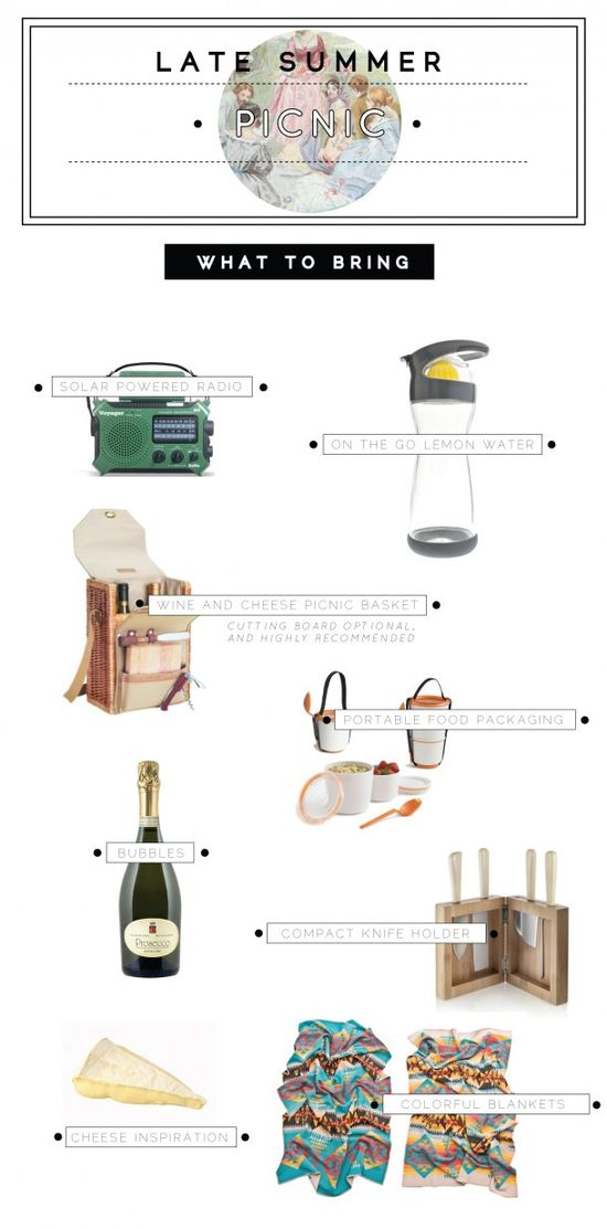 What to Bring to Your Late Summer Picnic: A Simple List