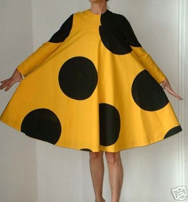 Mod polka dot dress