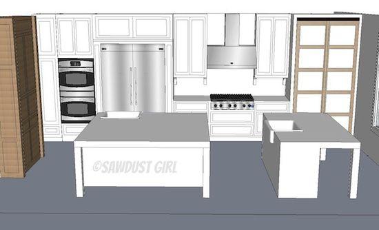 Kitchen design view 1