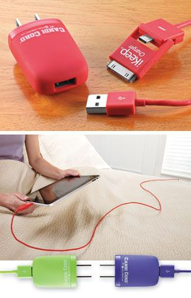 Extra-long 6' Charging Cord makes it easy to use electronics while charging. For iPad & iPhone 5