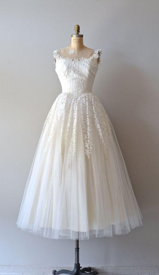 lace 50s wedding dress / 1950s dress / Cupid & by DearGolden, $645.00
