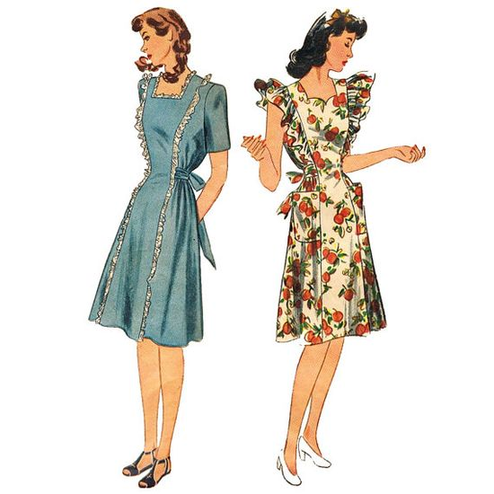 1940s Vintage Maternity Dress Pattern by JFerrariDesigns on Etsy, $16.00